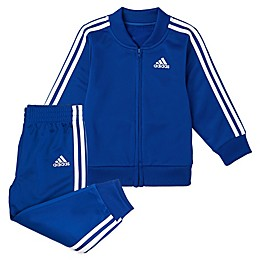 adidas® 2-Piece Tricot Tracksuit Jacket and Jogger Pant Set in Royal Blue
