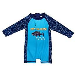 Sol Swim® Off the Hook Long Sleeve Body Rash Guard in Blue