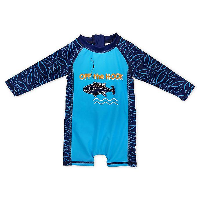 Alternate image 1 for Sol Swim® Off the Hook Long Sleeve Body Rash Guard in Blue