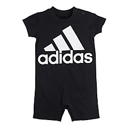 adidas® Shortie Romper in Black/White