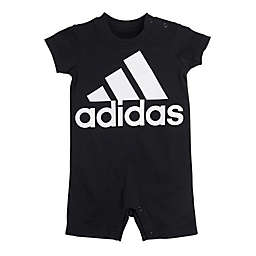 adidas® Size 12M Shortie Romper in Black