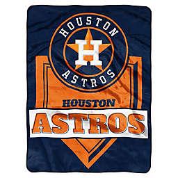 MLB Houston Astros Home Plate Raschel Throw Blanket