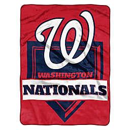 MLB Washintgon Nationals Home Plate Raschel Throw Blanket