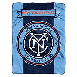MLS New York City FC Goal Keeper Raschel Throw Blank