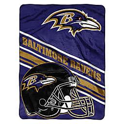 NFL Baltimore Ravens 60-Inch x 80-Inch Slant Raschel Throw Blanket