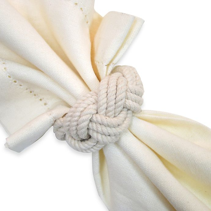 Alternate image 1 for Braided Nautical Rope Napkin Ring