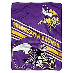 NFL Minnesota Vikings 60-Inch x 80-Inch Slant Raschel Throw Blanket