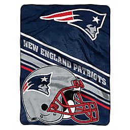 NFL New England Patriots 60-Inch x 80-Inch Slant Raschel Throw Blanket