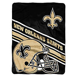 NFL New Orleans Saints 60-Inch x 80-Inch Slant Raschel Throw Blanket