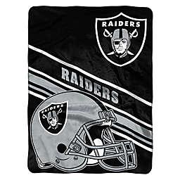 NFL Las Vegas Raiders  60-Inch x 80-Inch Slant Raschel Throw Blanket