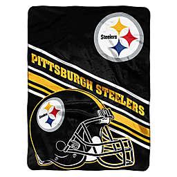 NFL Pittsburgh Steelers 60-Inch x 80-Inch Slant Raschel Throw Blanket
