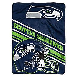 NFL Seattle Seahawks 60-Inch x 80-Inch Slant Raschel Throw Blanket
