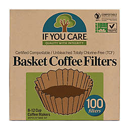 If You Care 100-Count Unbleached 8-Inch Basket Coffee Filters