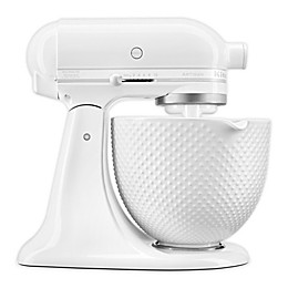 KitchenAid® Artisan® Series 5 qt. Tilt-Head Stand Mixer with Hobnail Bowl in White
