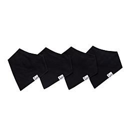 Copper Pearl 4-Pack Basic Black Bandana Bibs
