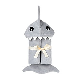 Elegant Baby® Shark Hooded Towel in Grey