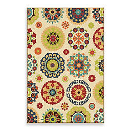 Aria Rugs Veranda Collection Hubbard Rug in White