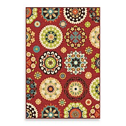 Aria Rugs Veranda Collection Hubbard Rug in Red