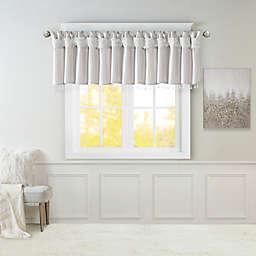 Madison Park Emilia Twist Tab Window Valance in Silver