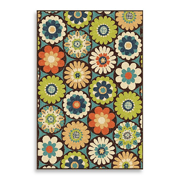 Alternate image 1 for Orian Rugs Veranda Visage Gemstone Indoor/Outdoor Rug in Blue/Green