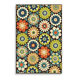 Orian Rugs Veranda Visage Gemstone Indoor/Outdoor Rug in Blue/Green