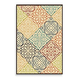 Aria Rugs Veranda Collection Whitten Rug in Multicolor