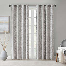 SS Everly Branch Jacquard Window Panel Silver