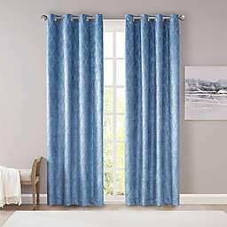 SunSmart Taylor Diamond Jacquard 100% Blackout Window Curtain Panel