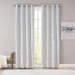 SunSmart Taylor Diamond Jacquard 100% Blackout 95-Inch Curtain Panel in Silver (Single)