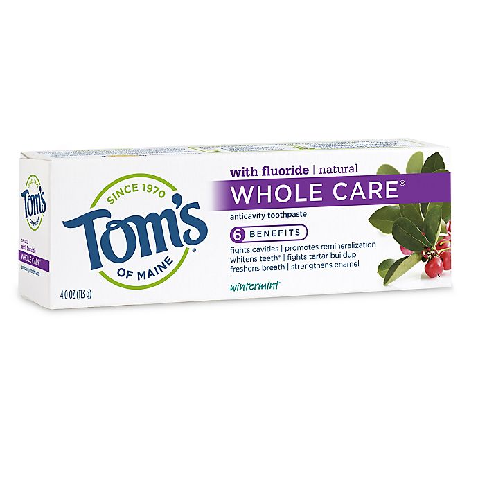 Alternate image 1 for Tom's of Maine 4 oz. Whole Care Toothpaste in Wintermint