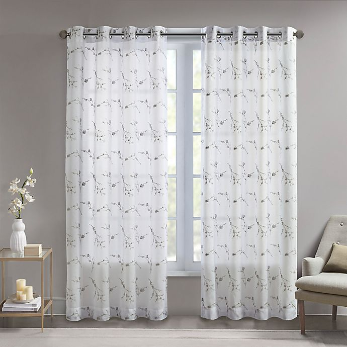 Alternate image 1 for Madison Park Meredith 84-Inch Grommet Light Filtering Window Curtain Panel in Natural