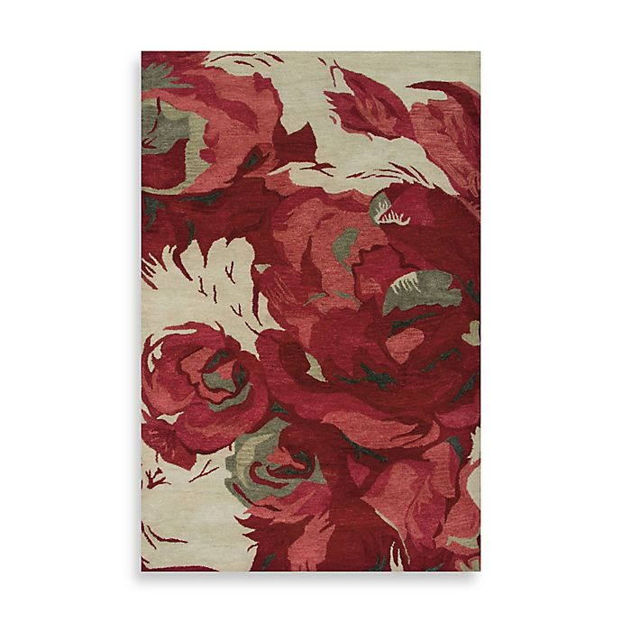 Alternate image 1 for Highland 5-Foot x 8-Foot Rug in Beige/Red