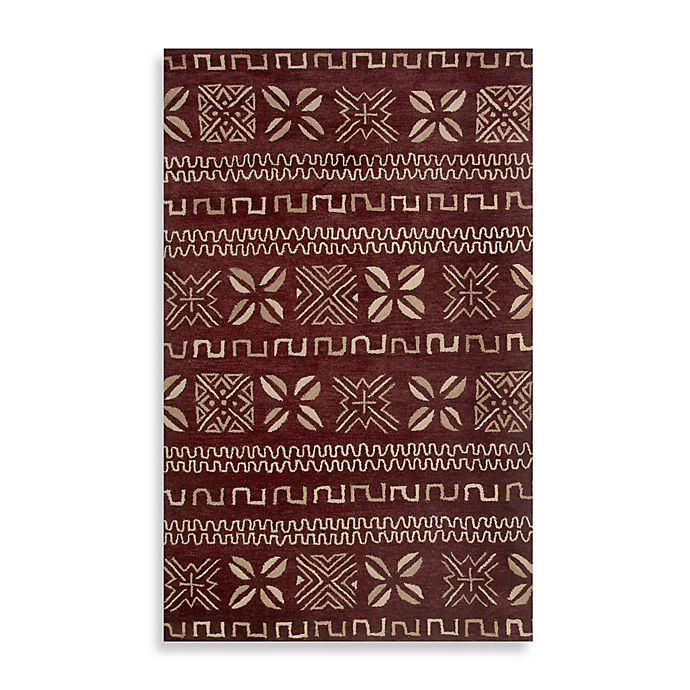 Alternate image 1 for Highland 8-Foot x 10-Foot Rug in Burgundy