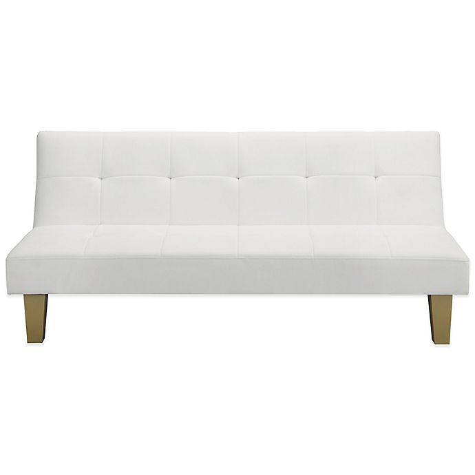 Everyroom Abella Faux Leather Futon In White Bed Bath Beyond