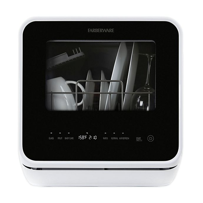 Alternate image 1 for Farberware® 16.5-Inch Front Control Countertop Dishwasher in White