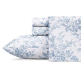 Laura Ashley® Vanessa Cotton Sateen Sheet Set in Blue