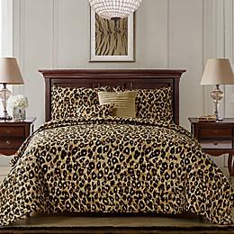 VCNY Home Cheetah 5-PIece Reversible Quilt Set