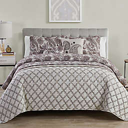 VCNY Home Georgie 5-Piece Queen Quilt Set in Burgundy