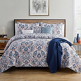 VCNY Home Janine 7-Piece Reversible Damask Quilt Set