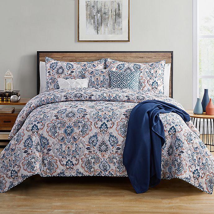 Alternate image 1 for VCNY Home Janine 7-Piece Reversible Damask Quilt Set