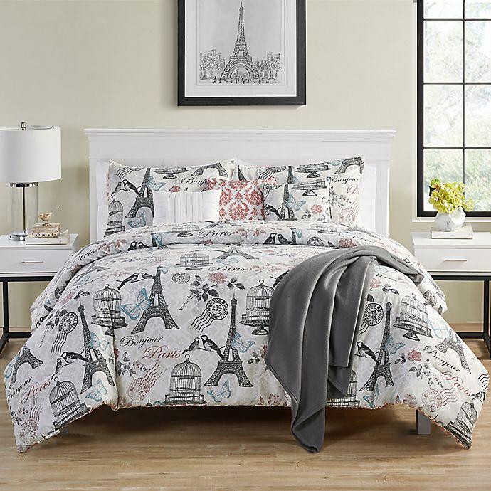 Alternate image 1 for VCNY Home Paris Birds 7-Piece Reversible Comforter Set