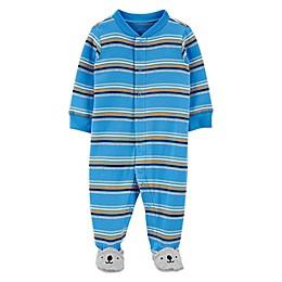 carter's® Size Preemie Striped Bear Zip-Front Sleep & Play Footie