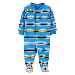 carter's® Size Preemie Striped Bear Zip-Front Sleep & Play Footie