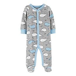 carter's® Size Preemie Blue Whale Zip-Front Sleep & Play Footie