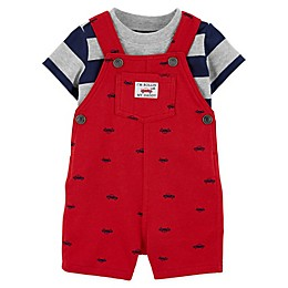 carter's® 2-Piece Cars Bodysuit and Shortall in Red