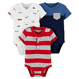 carter's® 3-Pack Cars and Stripes Bodysuits