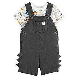 carter's® 2-Piece Dino Bodysuit and Shortall in Grey