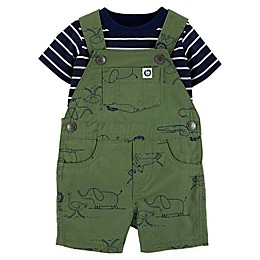 carter's® 2-Piece Zoo Bodysuit and Shortall in Green