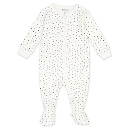 Petit Lem® Numbers Organic Cotton Footie in Ivory