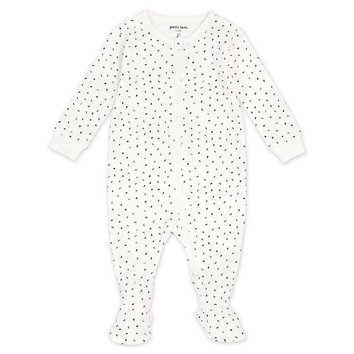 Alternate image 1 for Petit Lem® Numbers Organic Cotton Footie in Ivory